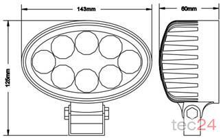 Zubehör TraktorLED 2 Watt LED Scheinwerfer Bild 1
