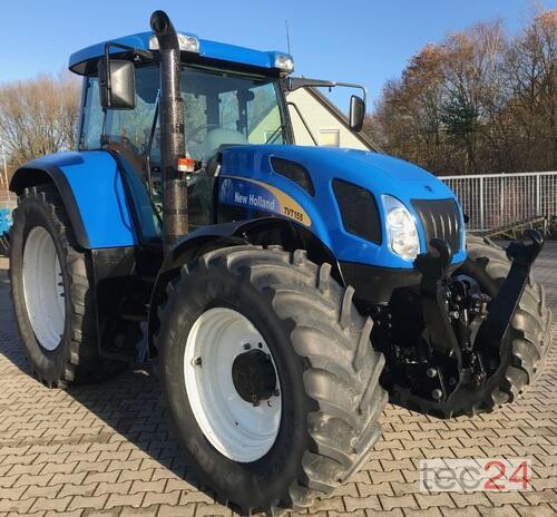 New Holland Tvt 155 Allrad Traktor Årsmodell 2006 4-hjulsdrift