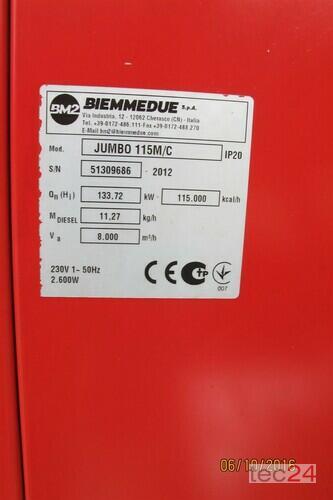 Heizgerät BM2 Getreidetrocknung Ölheizung Jumbo 115 Hallenheizung Bauheizung Bild 2