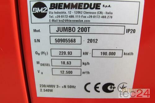 Heizgerät BM2 Getreidetrocknung Ölheizung Jumbo 200 Hallenheizung Bauheizung Bild 2