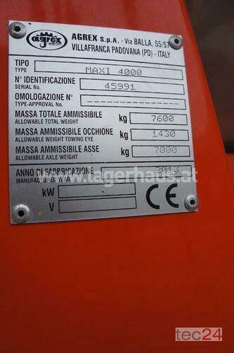 Agrex Maxi 4000 Rok produkcji 2013 Horitschon