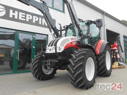 Steyr 4095 Kompakt Eco Tec Chargeur frontal A 4 roues motrices