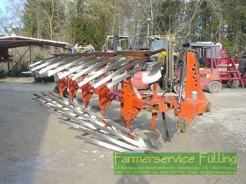 Huard 5Schar-Pflug, Streifenkörper, Stützrad, Rahmen gechweißt