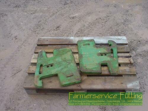 John Deere 50kg-Koffergewichte, 2 Stück, Paketpreis