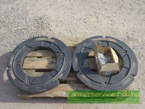 Radgewichte 250 kg und Trägerplatten 113 kg, Paarpreis