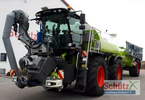 Claas Xerion St Mit Sgt Aufbaufaß Und Anhänger Inkl. Bomech Vert Årsmodell 2013 4-hjulsdrift