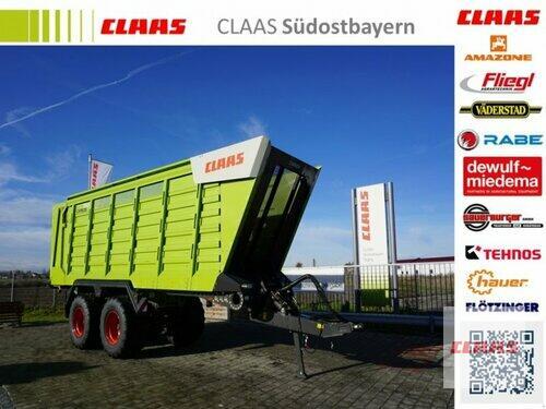 Claas CARGOS 750 Neumaschine, nachlaufgelenkte Tandemachse, Bordwa