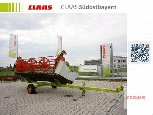 Claas C 450 mit Rapstisch und Transportwagen