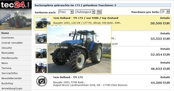 New Holland TM 175 Vorschau